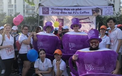 Saving lives one run at the time, with TRG and PJ's Coffee at BBGV Fun Run.