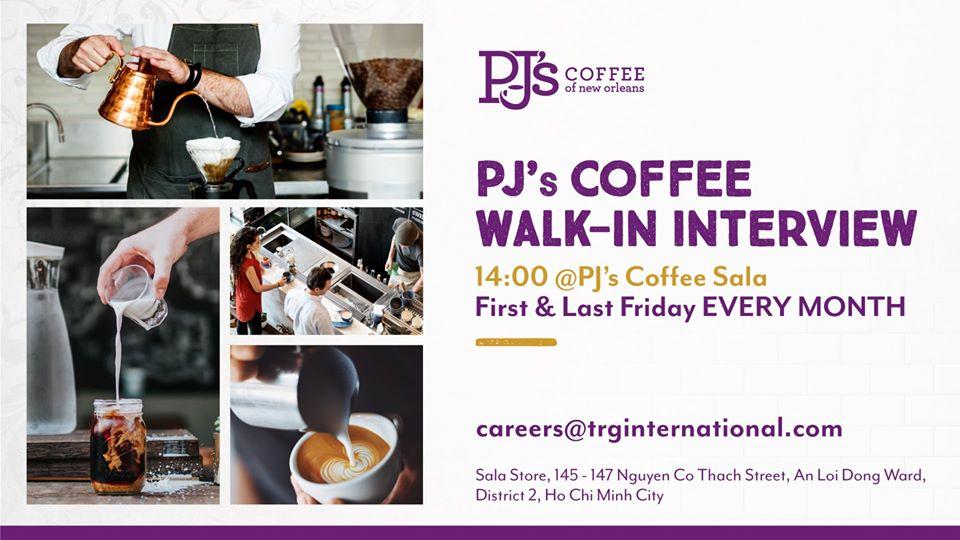 PJ's Coffee Walk-in Interview